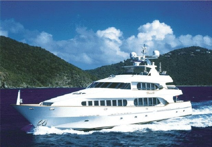 A photo of Tony Accurso's yacht when advertised for sale with Fraser Yachts in 2010.