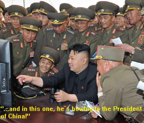 Kim Jong-Un with military